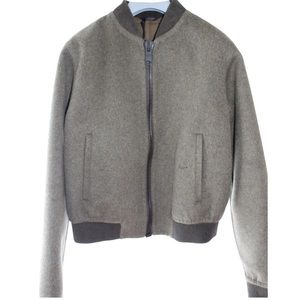Wool Army Green Calvin Klein Collection Jacket